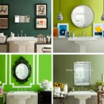 Yeşil Renk Benjamin Banyo Lavabo Dekorasyonu