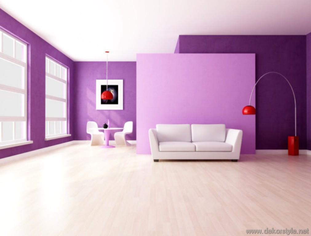 2016 Trend Renkleri ile Ev Dekorasyonları Pembe Mor Duvar Renkleri