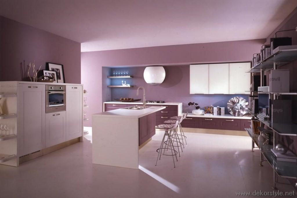 2016 Trend Renkleri ile Ev Dekorasyonları Pembe Mor Mutfak