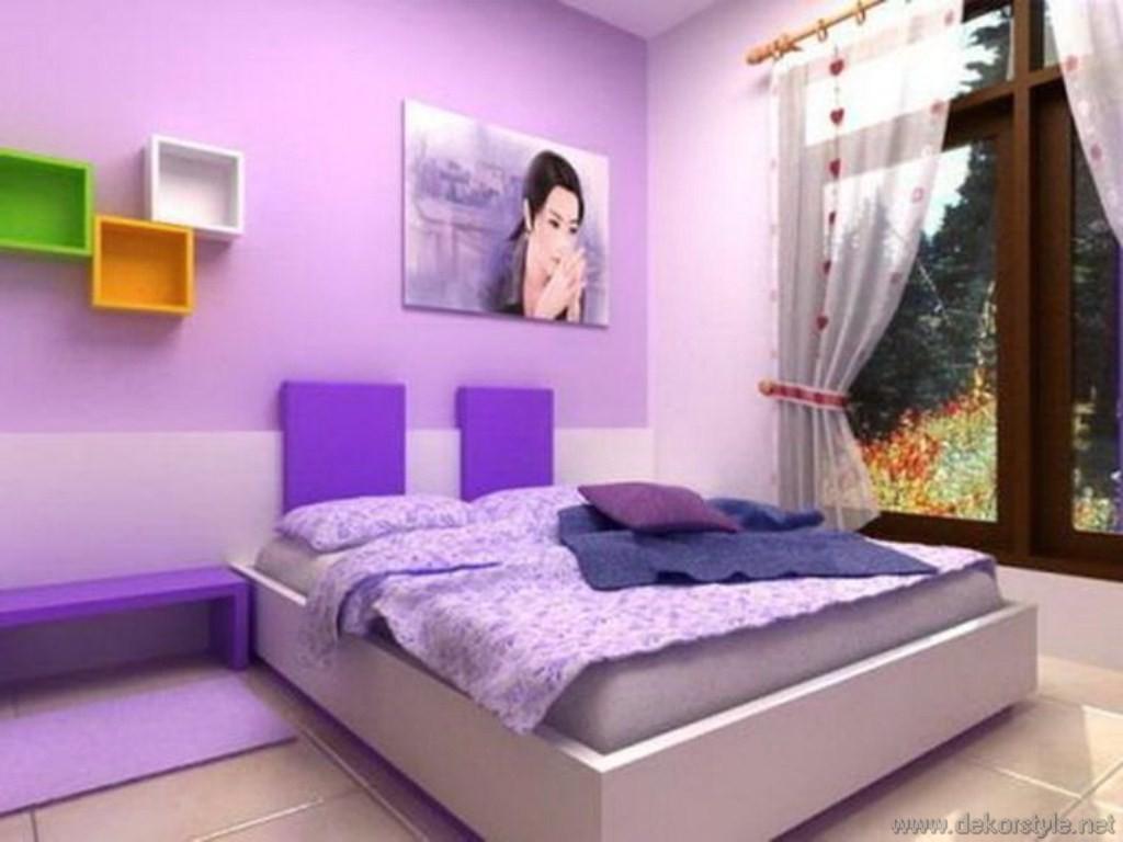 Modern mor renkli banyo dekorasyonu ev dekorasyonu dizayn - 2016 Trend Renkleri Ile Ev Dekorasyonlar Pembe Mor Yatak Odas