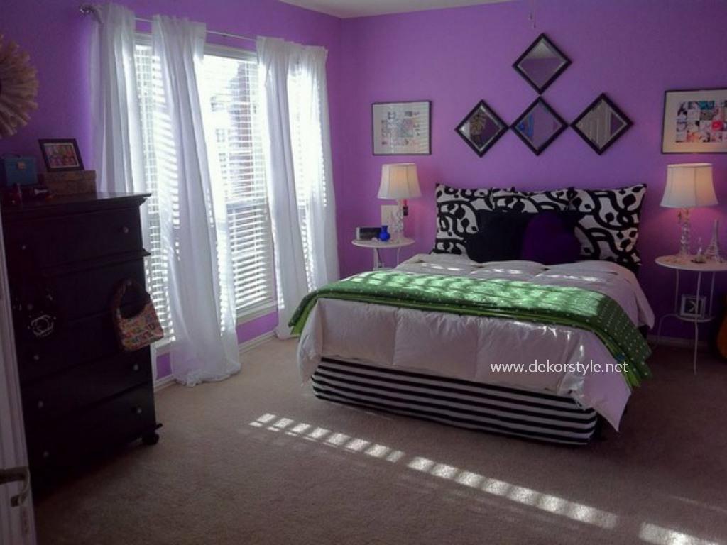 Genç Odaları için Açık Leylak Tonları Renklerin Kullanımı