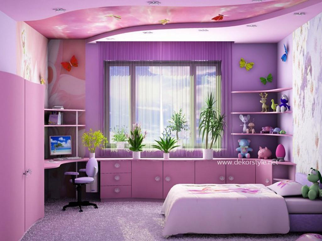 Genç Odası Kızlar için Oda Tasarımı