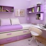 Küçük Genç Odası Dekoru Pembe Renk