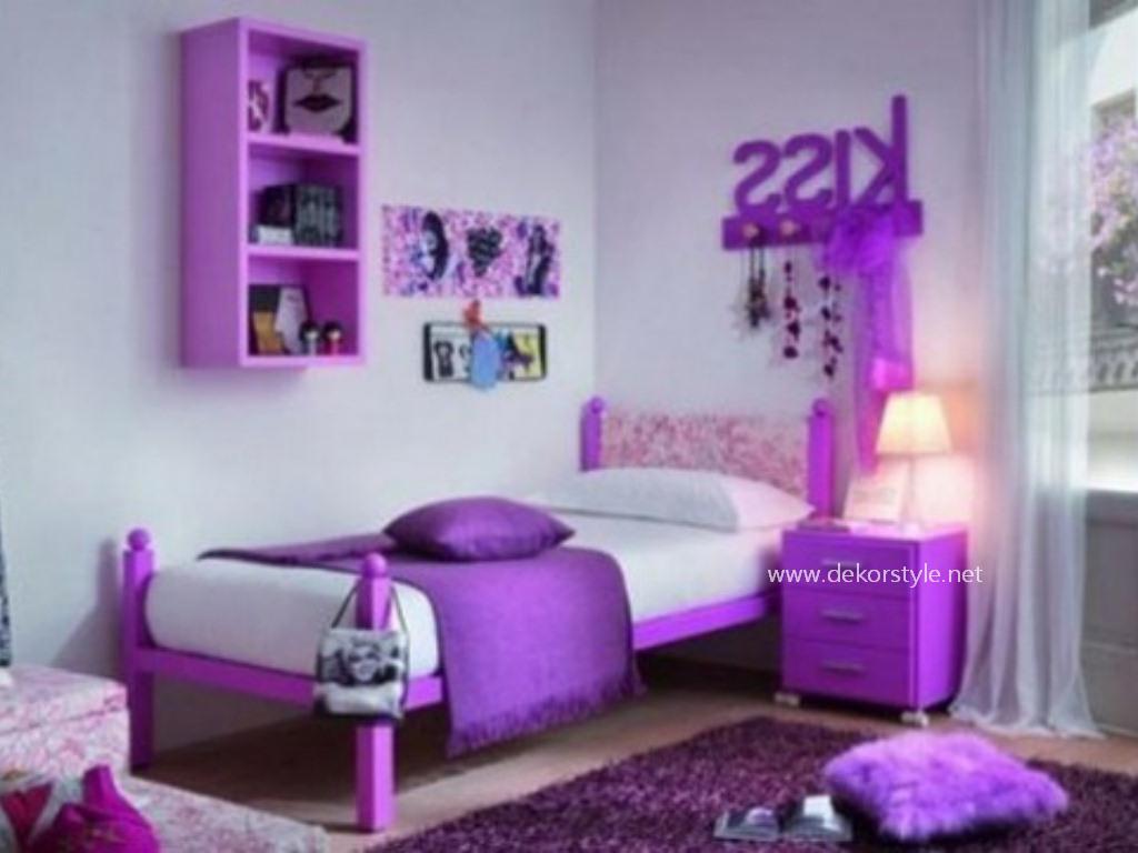 Leylak Rengin Genç Kız Odası için Kullanımı