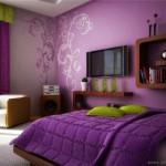 Pembe ve Mor Yatak Odası Renkleri Kombinasyonu