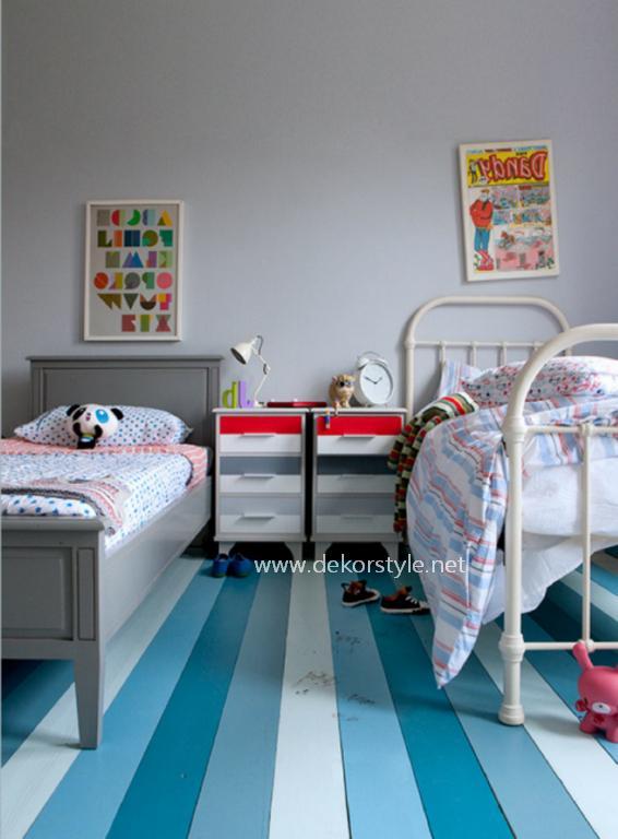 Turkuaz Rengi Çocuk Odası