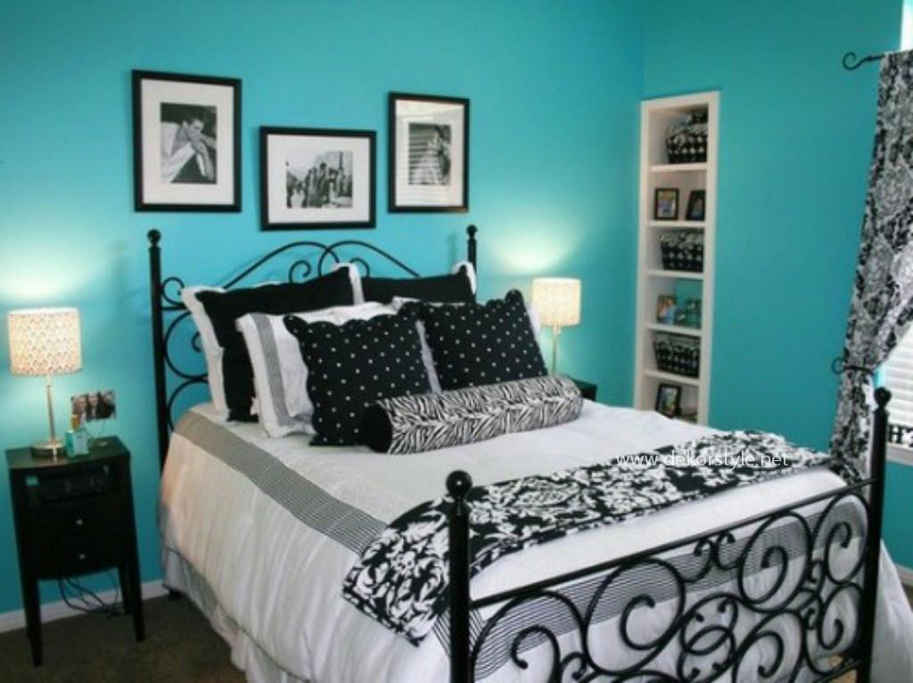 Turkuaz Rengi Yatak Odası Tasarımı