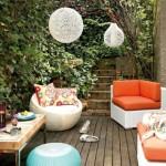 Ahşap veranda teras fikri ve arkadaşlarla parti