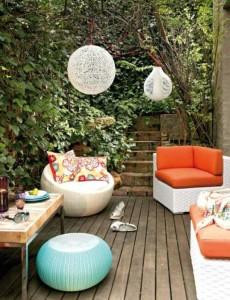 ahsap veranda teras fikri ve arkadaslarla parti