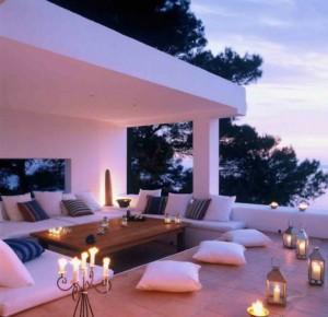 romantik atmosfer fikri veranda balkon teras veranda