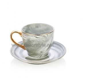 Bernardo Altın Kulplu 6 li Kahve Fincan Seti