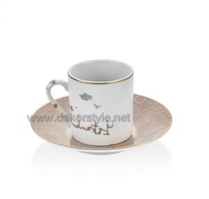 Bernardo istanbul 6'li Kahve Fincan Seti
