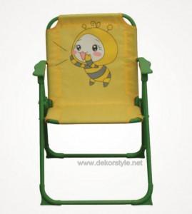 Koçtaş Arı Desenli Sarı Katlanır Çocuk Sandalyesi 2016