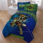Ninja Turtle Mavi Yeşil Çocuk Yatak Örtüsü