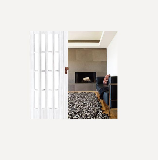 FIORE PVC Camli Akordiyon Katlanır Kapı Beyaz 189,90TL