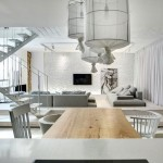 Beyaz Dublex Ev Salon Dekoru