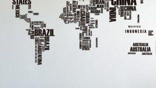 2016 Harita Desenli Dekoratif Duvar Kağıdı Modelleri