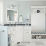 beyaz banyo dekoru
