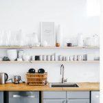 Dekoratif güzel mutfak rafları yapma