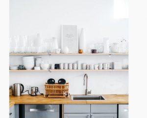 Dekoratif guzel mutfak rafları yapma