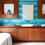 turkuaz banyo dekorasyonu
