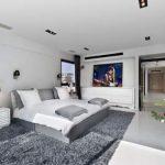 Beyaz yatak odasi modeli