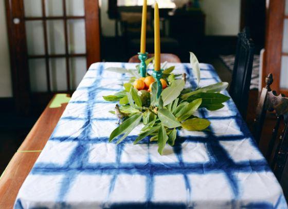 Shibori Masa Örtüsü