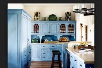 Mavi Hazır Mutfak Modelleri