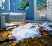 Banyolar için Harika Suya Dayanıklı Duvar Kağıdı Modelleri