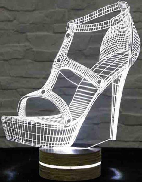 Gece Lambası Kadın Ayakkabısı Şeklinde