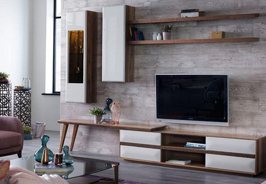Basit Ve Şık Tasarıma Sahip TV Unitesi Modeli