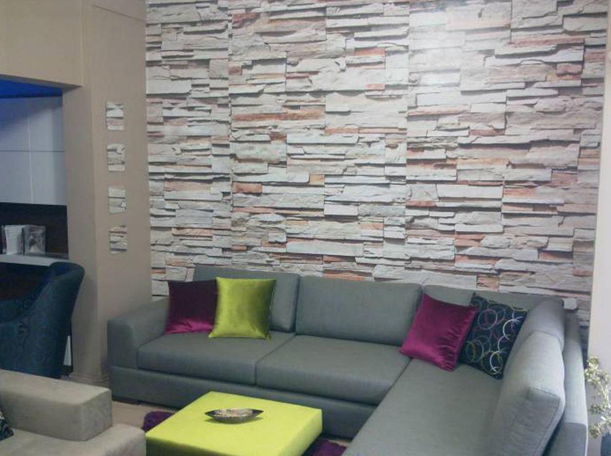 Doğal Taş Desenli Moda Duvar Kağıdı Modelleri