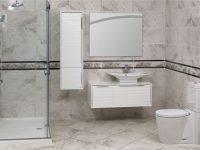 Modern Banyo Aynası ve Dolap Modelleri Beyaz Seramikten