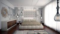 Sade ve Şık Kullanışlı Yatak Odası 2017