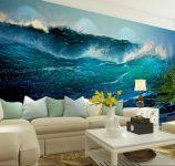 3D Duvar Kağıtları Vahşi Deniz Dalgaları 2017