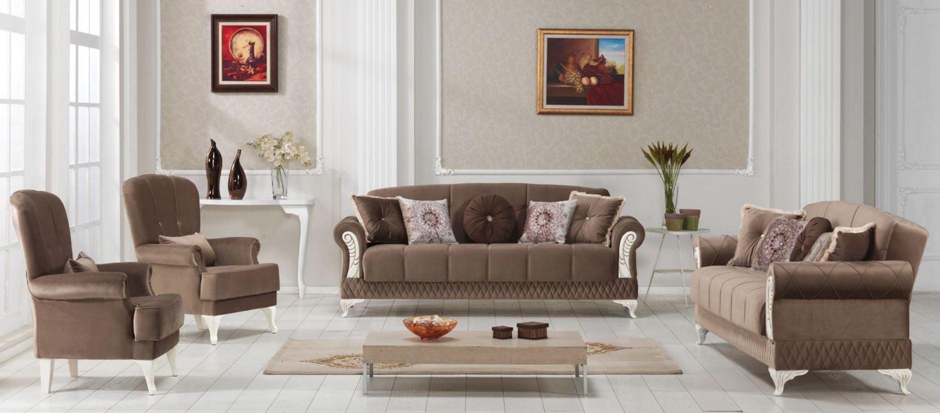 Beyzade Delüks 3+3+B+B+ Yeni Kahverengi Kod05 Evkur 3086 TL Fiyatı
