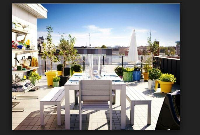 ikea bahçe ve balkon yemek masası