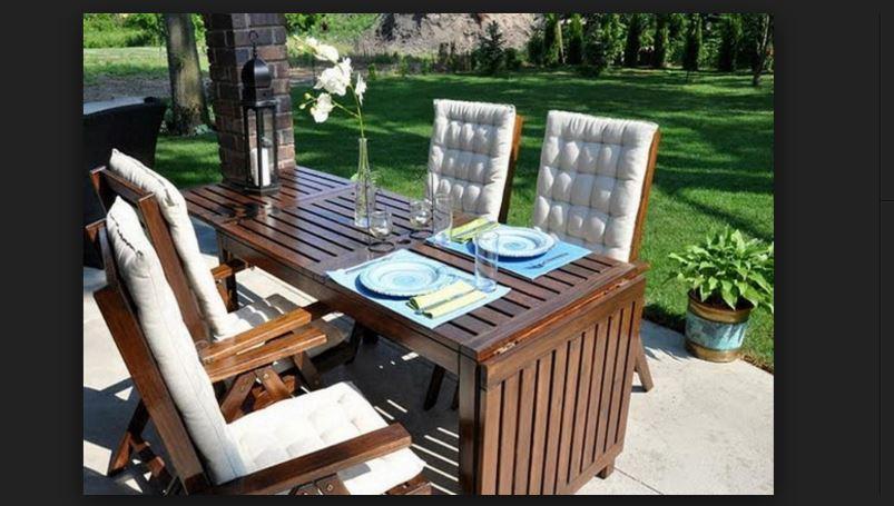 ikea dışarı bahçe yemek kahvaltı masaları
