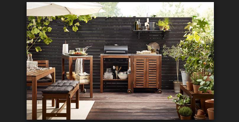 ikea lüks bahçe mobilya ve aksesuarları