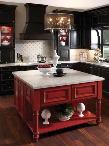 Kırmızı Siyah Mutfaklar