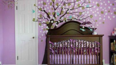 Açık Mor Bebek Odası Modelleri