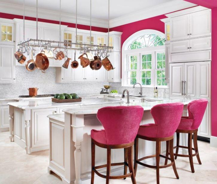 fusya-rengi-mutfak-dekorasyonlari