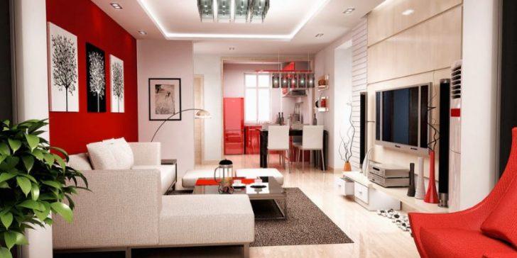 2018 Salon Dekorasyonu Kırmızı ve Beyaz Renkleri