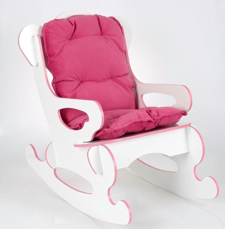 Tekzen prado sallanan çocuk sandalyesi minderli pembe renginde