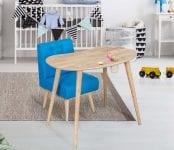 Tekzen vitale cute çocuk masa seti mavi renk