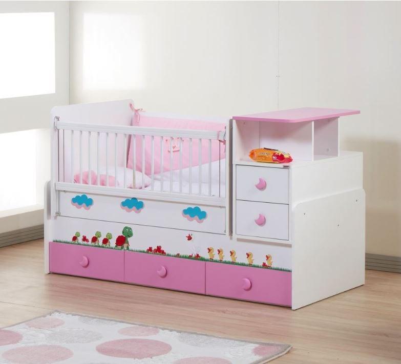 Tekzen çocuk odası modelleri - Dessenti miray bebek odası büyüyen beşik pembe