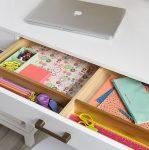 2018 Çocuklar için çalışma masası modelleri çekmeceleri