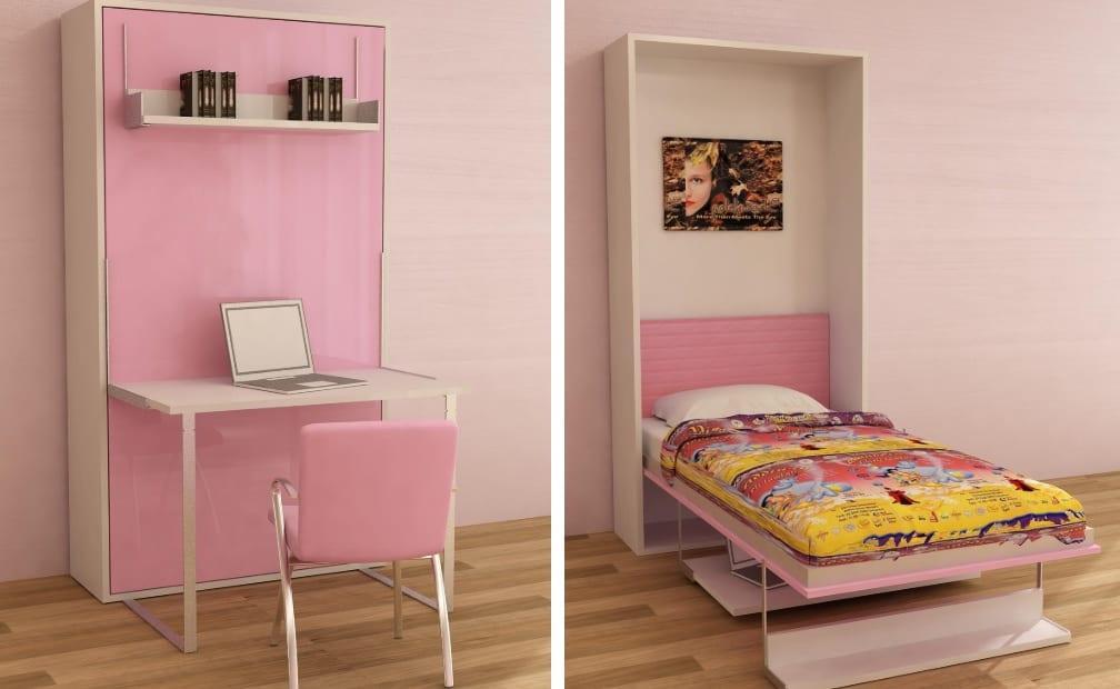 Çalışma masalı çocuk odası duvar yatağı