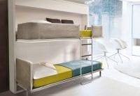 Çocuk ve genç odaları için duvar yatakları