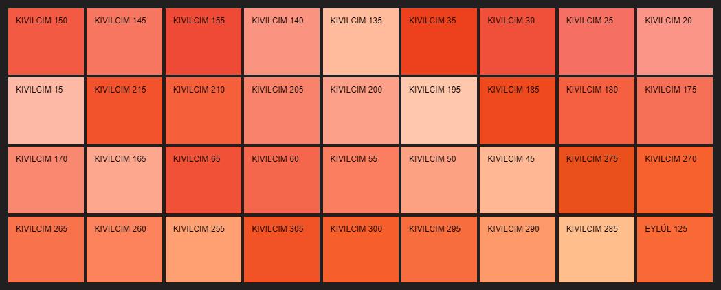 Filli Boya turuncu duvar rengi